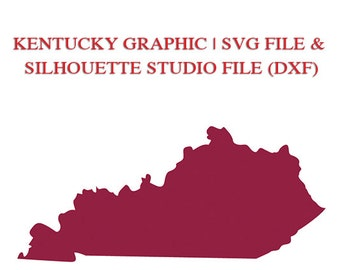 Kentucky State Designs for Cutting Machines | SVG and Silhouette Studio (DXF)