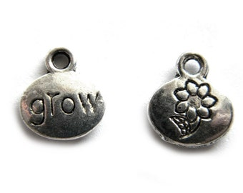 6 Silver Grow Charm - Garden Charm