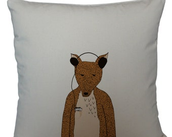 Hollywood the fox cushion cover