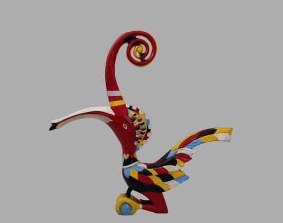 Borneo Hornbill Sculpture 15 Tall Bird Wood