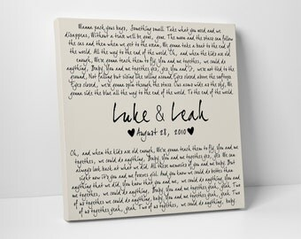 You and Me, Dave Matthews Band, Wedding Gift, Anniversary