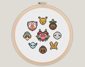 Majora's Mask - Zelda Cross Stitch - PATTERN