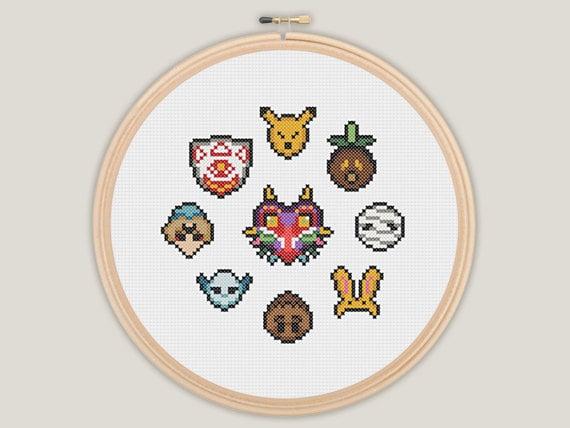 Majora's Mask - Zelda Cross Stitch - PATTERN