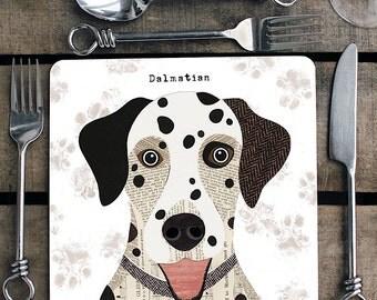Dalmatian personalised placemat/coaster