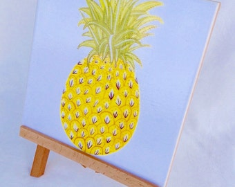 Vintage Pineapple Ceramic Tile Wall Plaque