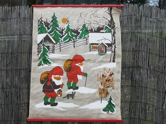 Vintage Christmas Wall Decor : Scandinavian wall decor hanging by hya vintage christmas