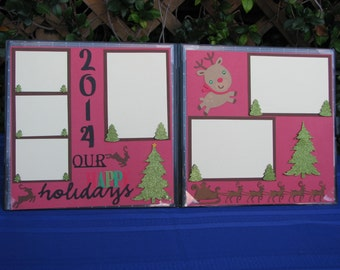 Christmas Scrapbook Pages Premade Christmas Scrapbook Pages Holiday Scrapbook Pages Premade 12 x 12 Album Pages Premade Scrapbook Pages