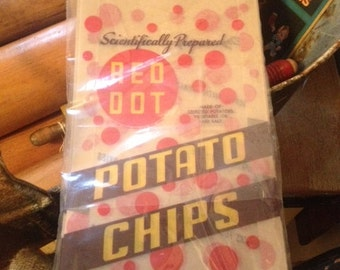 10 Pack Red Dot Potato Chip Bags, Madison Wisconsin, Retro Never Used or Opened