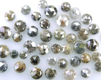 Rose cut Loose  Diamond  mix color Natural diamond low price 2.00 MM to 5.00 MM 1ct  Lot Q108