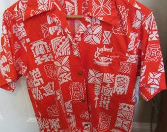 Made in Hawaii Tiki Shirt Luau