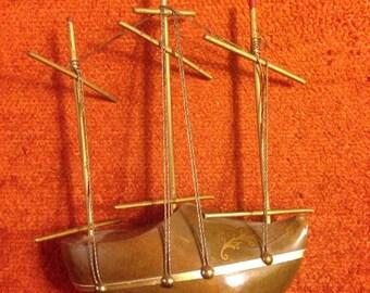 Antique Dutch Clog Shoe Ship