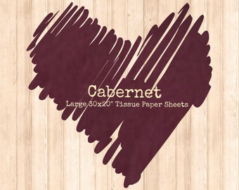 20 Cabernet Burgundy Tissue Paper Sheets Wine Gift Wrap Biodegradable 30 x 20 inches