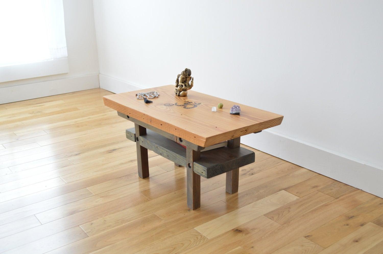 Reclaimed Wood Meditation Altar Japanese Torri Inspired