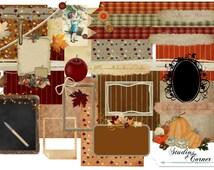 Audacious Autumn Digital Scrapbook Kit, Fall Scrapbook Kit, Autumn Scrapbook Kit, Digital Scrapbook Paper, Digital Scrapbook Package