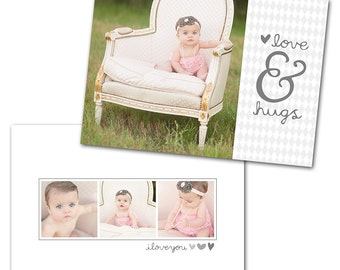 Sweetly Subtle Card 2 - Designed Photoshop Template for Custom Photography Cards