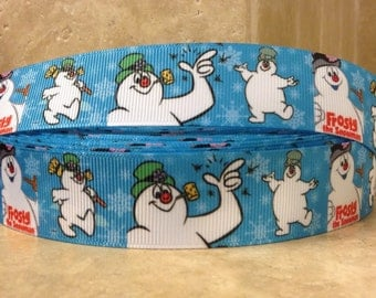 5 YDS Frosty The Snowman Ribbon