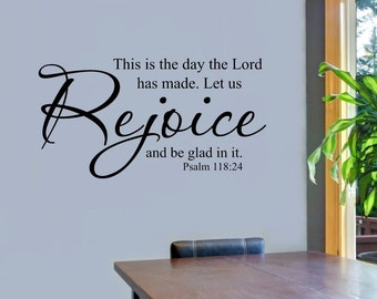 WW275  This is the Day Vinyl Wall Decal