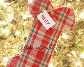 Christmas Stocking, Unique Personalized Burlap Holiday Stocking, Stocking for Dogs, Gifts for Pet Lovers, Great Quality! Beautiful!