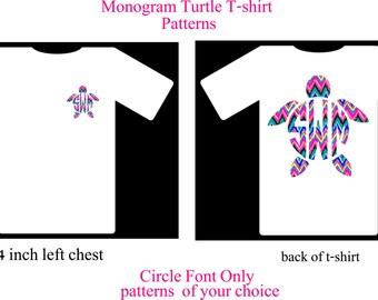 Monogram Turtle T-Shirt
