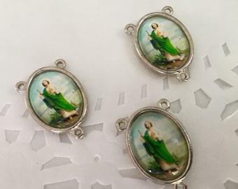 3 pc Rosary center pieces / St Jude /cruceros para Rosario San Judas/ rosary center/ crucero para Rosario