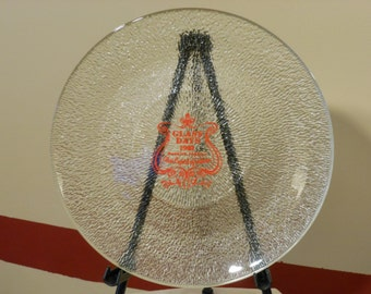 Commemorative Glass Plate from Dunkirk, Indiana 1981 Glass Days Plate
