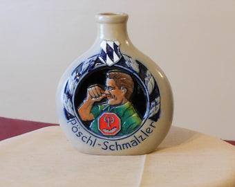 Large Bavarian Stoneware Snuff Flask