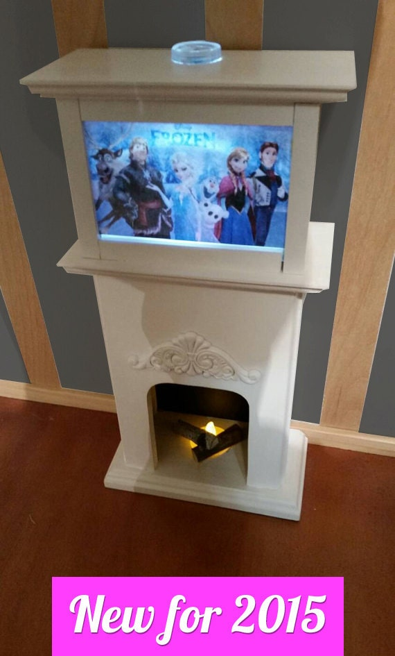 American girl doll sized lighted flickering by customwoodworkx for Fish tank fireplace