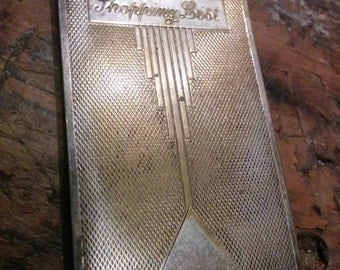 Art Deco 1930s Silver Plated Shopping List Notepad
