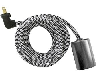 STEEL CASE LAMP w/ keyless socket