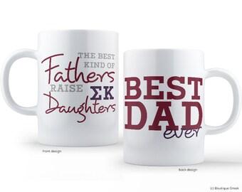 SK Sigma Kappa Best Dad Mug Sorority Father Mug