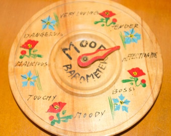 Novelty Wood Mood Barometer