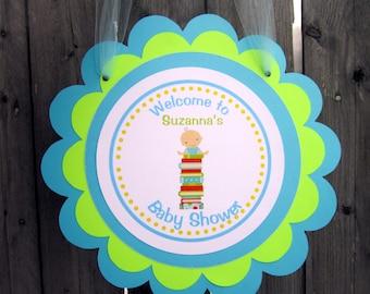 Book Baby Shower Sign - Book Baby Shower Door Sign