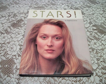 STARS PHOTOGRAPHS BOOK, 1983 Large by Daphine Davis, Tons of Pictures and Storys about Past Movie Stars