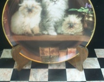 Franklin Mint Cat Design Reading Lessons  Collector Plate