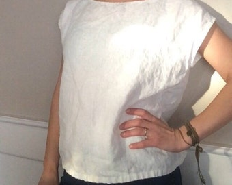 Linen T-shirt / tee / top / blouse