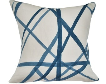 Kelly Wearstler Channels Throw Pillow Cover - Lee Jofa - Decorative Pillow - Toss Pillow - Both Sides or Solid Cream Linen Back - ALL SIZES