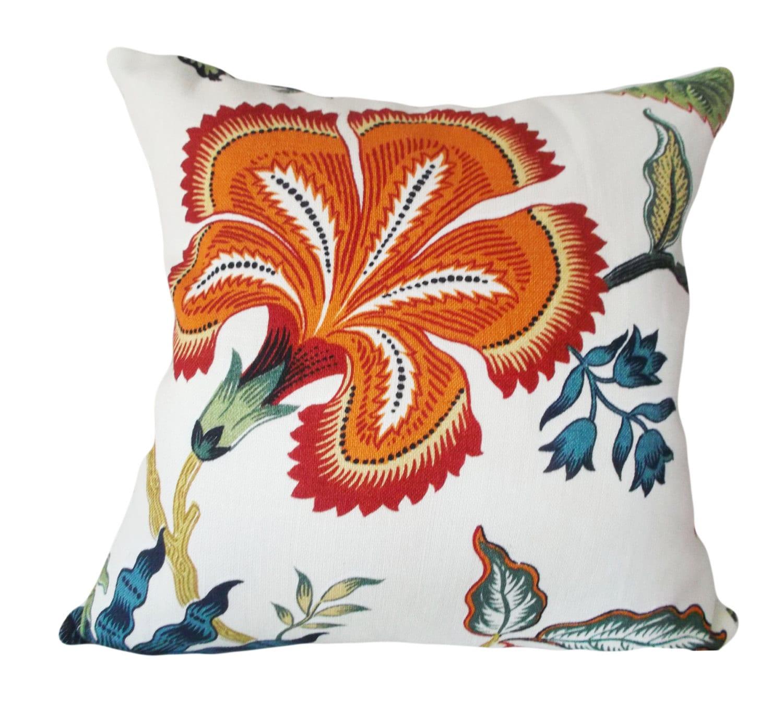 Schumacher Hothouse Flowers Spark Decorative by PillowTimeGirls