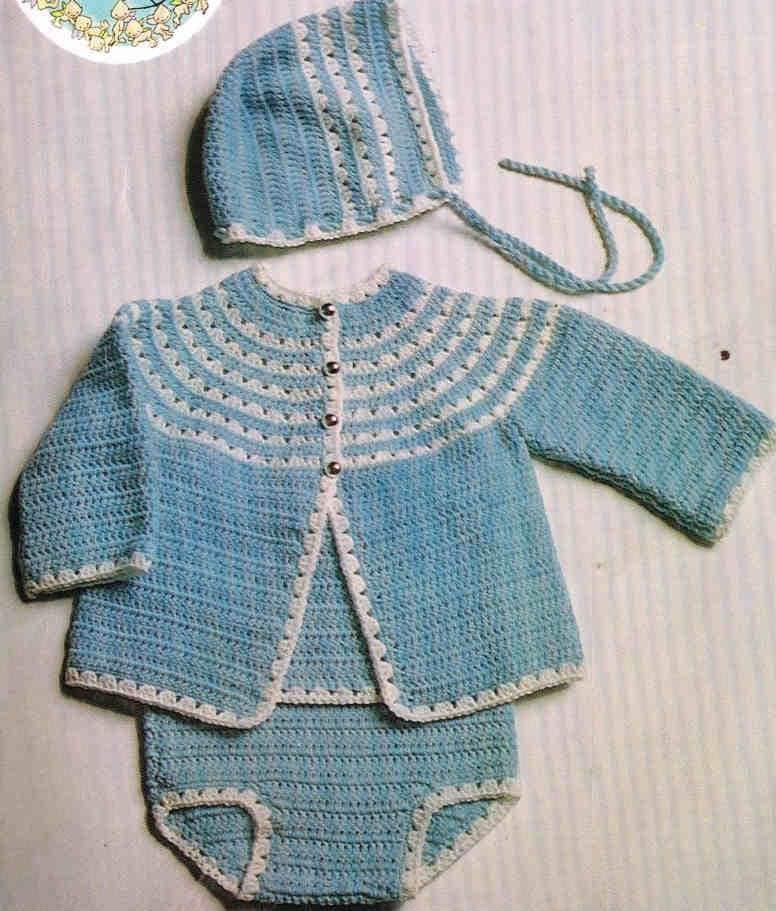 Crochet Baby Coat Pattern : baby matinee coat vintage crochet pattern PDF instant
