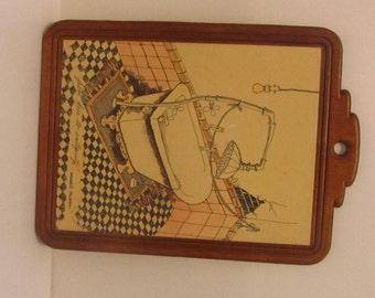 Wooden Bathroom Plaque