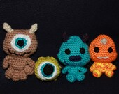 Amigurumi Monsters Inc : Disney Crochet and clay items by rosietoesiez on Etsy