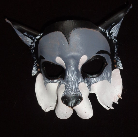 how to make a leather wolf mask