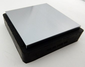 "Square Bench Block 4"" X 4"" Large Steel Bench Block with Rubber Base, Metal Forming Tool for Jewelry Making"