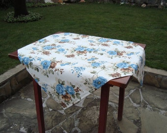 Rose Print Square Tablecloth Floral Tablecloth
