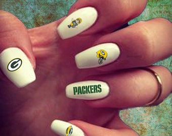 50 Green Bay Packers Nail Decals