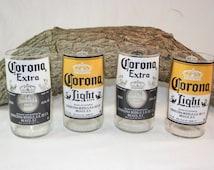 Drinking Glasses From Corona Beer Bottles,  8 oz. Drinking Glasses, Recycled Corona Beer Bottle, ONE glass