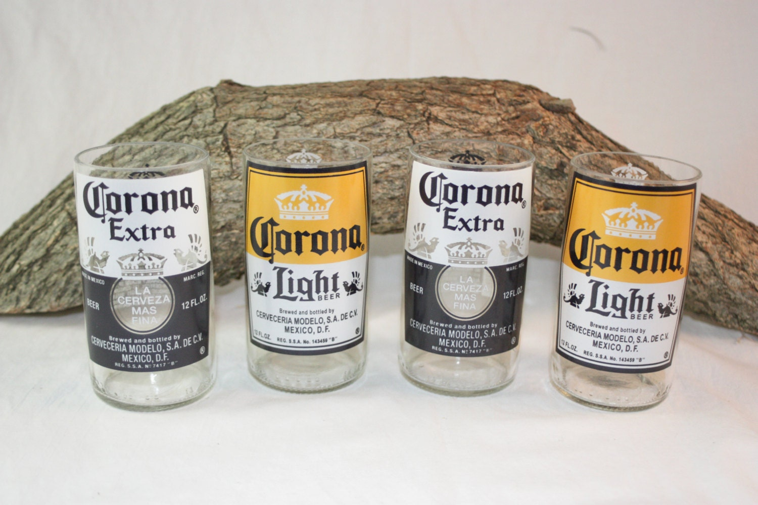 Drinking glasses from corona beer bottles 8 oz drinking for How to make corona glasses