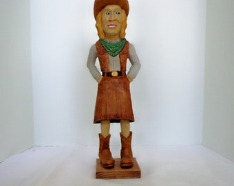 The Cowgirl, western Caricature figure