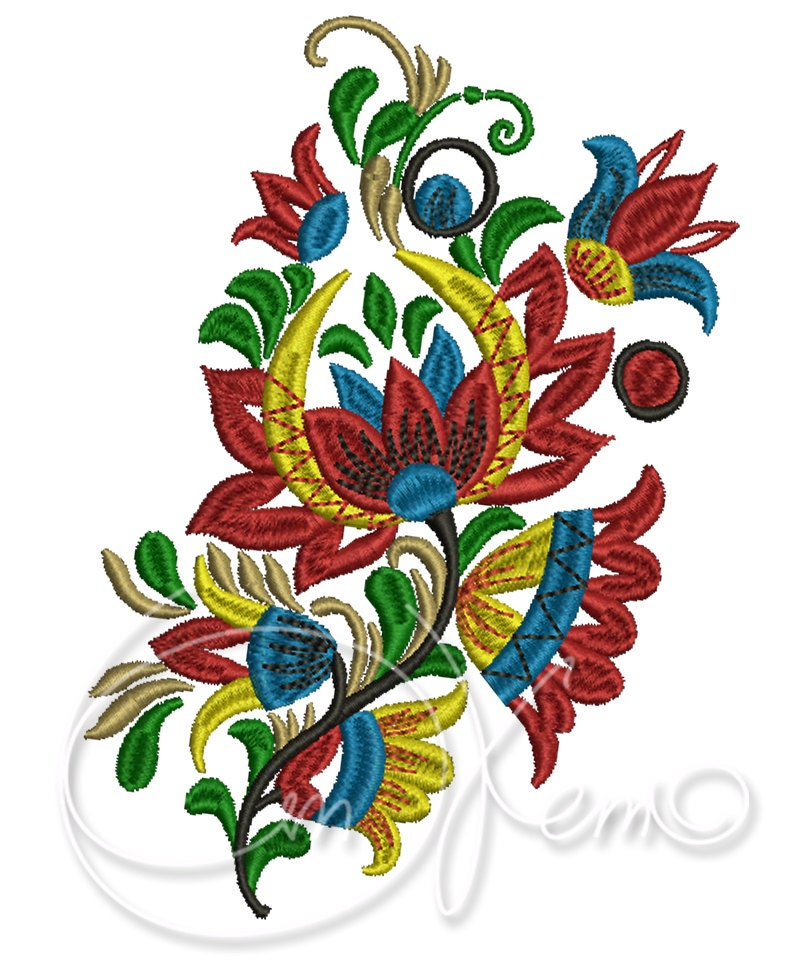 machine embroidery flower
