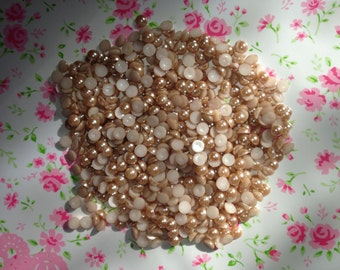 Light Brown Half Pearls 6MM - 300pcs