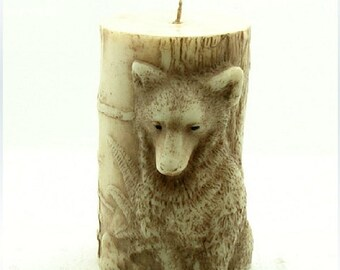 Candle Mold 3D Wolf Cylinder Soap Mold Mould Silicone Mold DIY Handmade